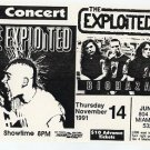 THE EXPLOITED BIOHAZARD 1991 Miami Beach Concert Handbill