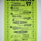 Lollapalooza 1997 West Palm Beach Concert Handbill TOOL KORN ORBITAL SNOOP TRICKY