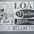 Load.Machine Mindframe 1994 Miami Punk Concert Flyer Handbill