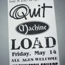 Quit Machine Load 1993 Miami Beach Punk Concert Flyer Handbill