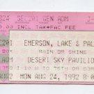 ELP Emerson Lake & Palmer 1992 Desert Sky Concert Ticket Stub