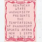 The Temptations 1975 KSU Frankfort Sports Arena Unused Concert Ticket