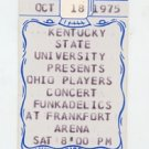 Ohio Players Funkadelic 1975 KSU Frankfort Arena Unused Concert Ticket