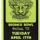 The String Cheese Incident 2001 Bronco Bowl Dallas Texas Concert Handbill