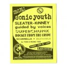 Sonic Youth Superchunk Guided By Voices 1999 Greek Theatre Concert Handbill
