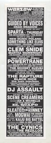 Guided By Voices Sleater Kinney Mogwai 2002 Brooklyn NY Concert Handbill