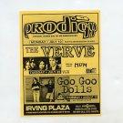 Prodigy The Verve Hum Goo Goo Dolls 1995 Irving Plaza NYC Concert Handbill