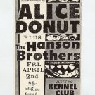 Alice Donut The Hanson Brothers 1993 Kennel Club SF Concert Handbill