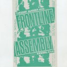 Frontline Assembly 1992 Kennel Club SF Concert Handbill Card