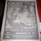 OZZY KORN LIFE OF AGONY 1996 Meadowlands NJ Full Page Newspaper Concert AD