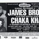 James Brown Chaka Khan 1997 Central Park NYC Concert Card Handbill 5x7