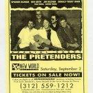 NEIL YOUNG THE PRETENDERS 2000 Chicago Concert Handbill
