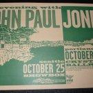 John Paul Jones 1999 Portland Seattle 11x17 Concert Poster