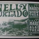 Nelly Furtado 2001 Portland Seattle Concert Poster 11x17