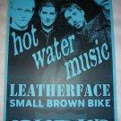 Hot Water Music Leatherface Small Brown Bike 2001 Seattle Concert Poster