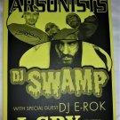 Arsonists DJ Swamp 2001 Seattle Concert Poster