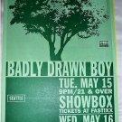 Badly Drawn Boy 2001 Seattle Portland Concert Dates Poster