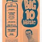 Frank Zappa Chicago Poco 1970 Concert Handbill WCFL Chicago Radio Survey