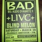 BAD Big Audio Dynamite Live Blind Melon 1992 Zellerbach Concert Handbill