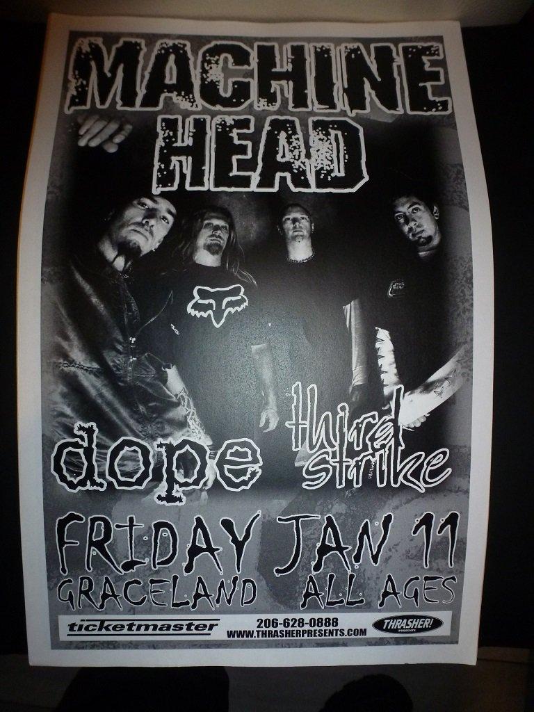 Machine Head 2002 Seattle Concert Poster 11x17