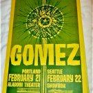 GOMEZ Portland Seattle Concert Dates Poster 11x17