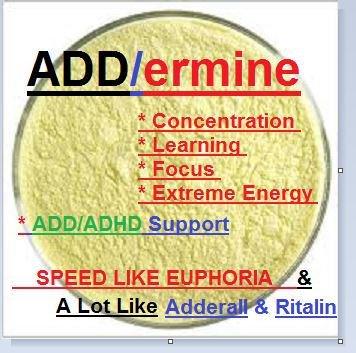 Addermine - 3g Speedy, Euphoric, and Fun / Study Helper