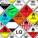 Hazard Warning Sticker, UN Label, 100mm x 100mm, ADR Complient. x5 or x25, Vinyl