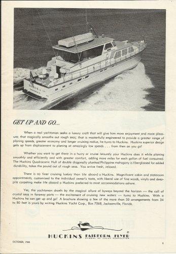 1965 Huckins Yacht Company Ad- The Fairform Flyer