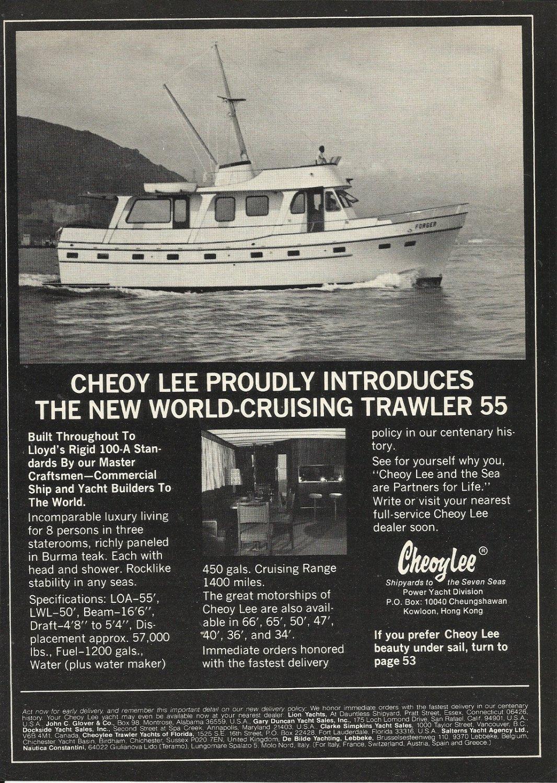 1977 Cheoy Lee Shipyards Ad- The Trawler 55