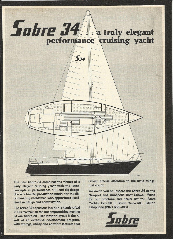 1977 Sabre Yachts Ad- The Sabre 34