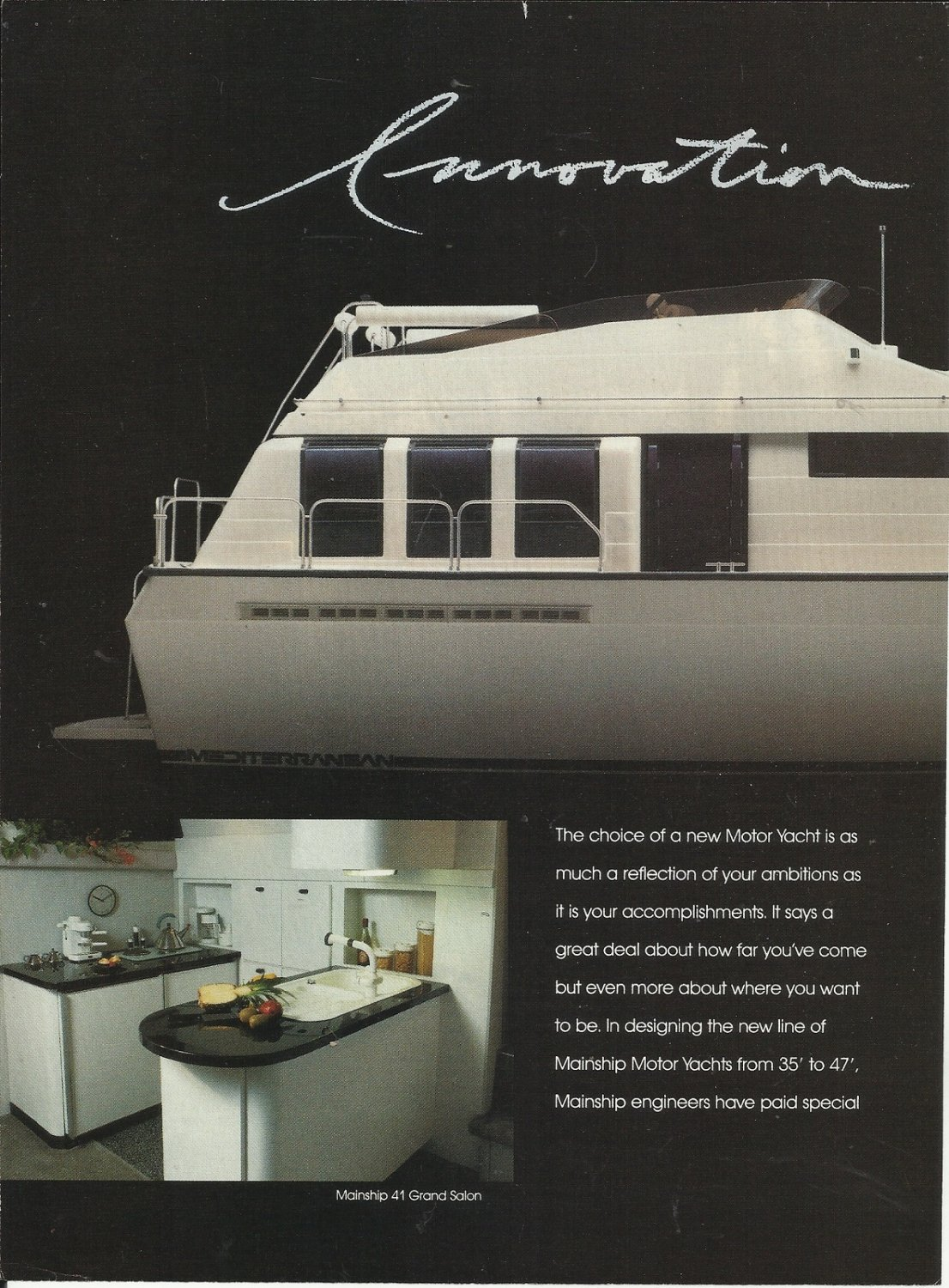 1989 Mainship Motor Yachts 2 Page Color Ad- The 41