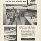 1959 Roamer Steel Boats Ad- The 35' Regal & 35 Riviera
