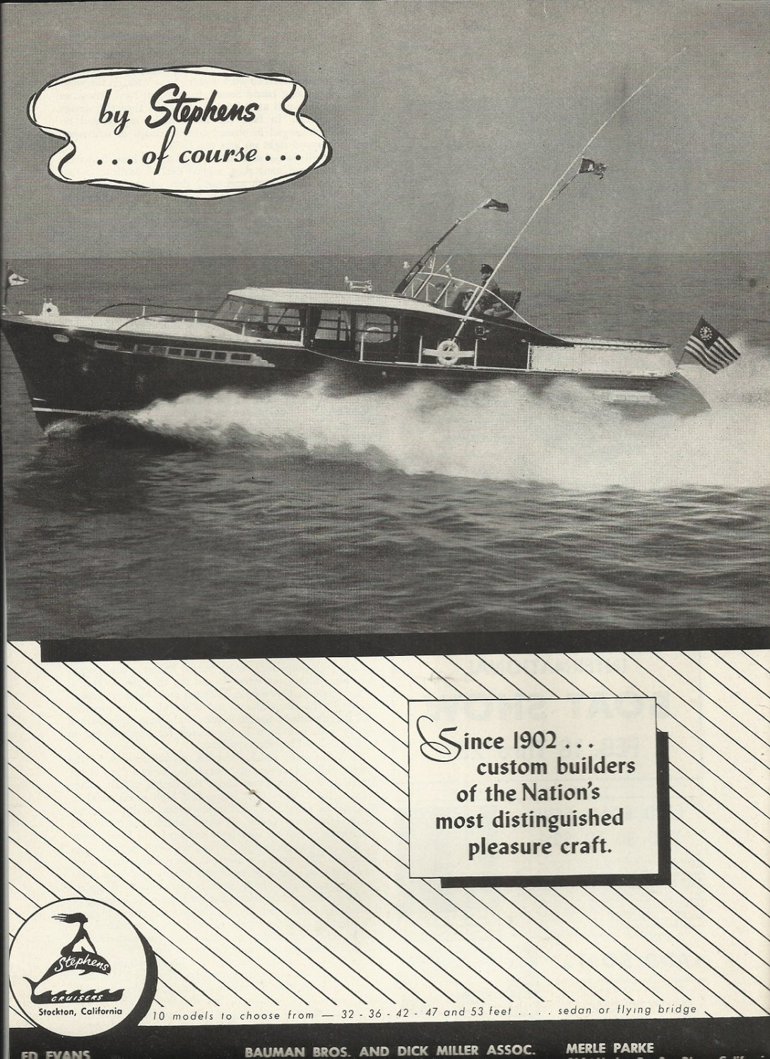 1955 Stephens Cruisers Ad