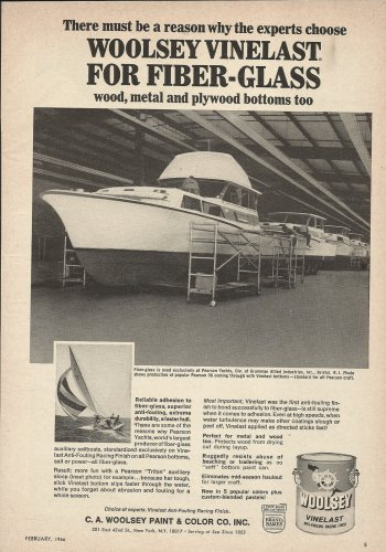 1966 C A Woolsey Paint Co Ad- Pearson Yachts
