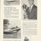 1955 Gulf Marine Products Ad-Great Photo Hydroplane Cro-Mate