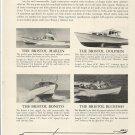 1956 Bristol Boats Ad- Marlin- Bonito- Bluefish- Dolphin