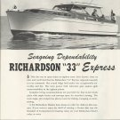1952 Richardson Boat Company Ad- The 33' Express