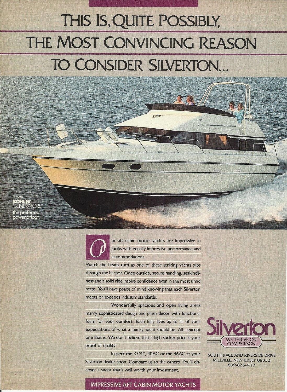 1988 Silverton Yachts Color Ad