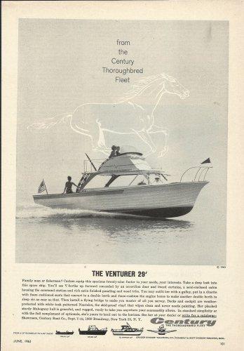 1963 Century Boat Company Ad- The Venturer 29'