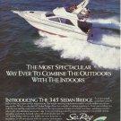 1988 Sea Ray Boats Color Ad- The 345 Sedan Bridge