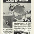 1944 WW II Danforth Hawse Pipes Ad- U S Frigate # 19