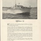 1956 Huckins Yacht Corp Ad- The Offshore 52