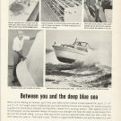 1965 Western Boat Building Corp Ad- Fairliner Yacht
