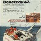 1983 Beneteau USA LTD Color Ad- The Beneteau 42- Specs
