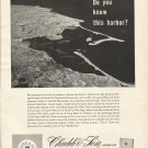 1958 Chubb & Son Insurance Ad-Great Aerial Photo of Plymouth Massachusetts