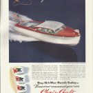 1945 Chris- Craft Boats Color Ad- The 22' Custom Sportsman