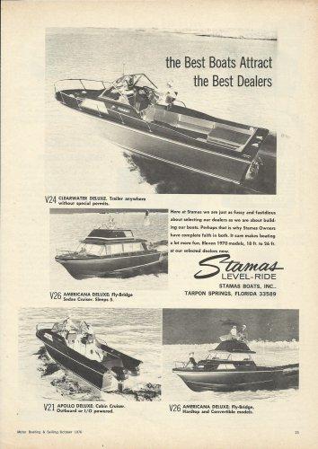 1970 Stamas Boats Inc Ad- V-24- V26- V21- V26