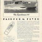 1956 Huckins Yacht Co. Ad- The Fairform Flyer Sportsman 40