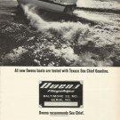1965 Texaco Marine Ad Featuring Owens Yacht