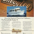 1980 Cheoy Lee shipyards Color Ad- The Trawler 55